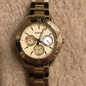 Fossil Watch- gold